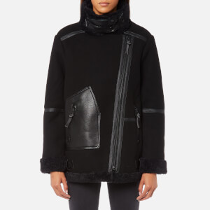 Superdry Women's Ophelia Wool Aviator Jacket - Black