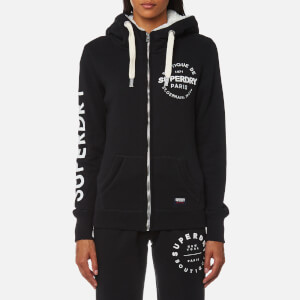 Superdry Women's Appliqué Zip Hoody - Black