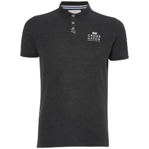 Crosshatch Men's Princeton Polo Shirt - Charcoal Marl