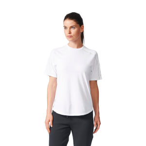 adidas Women's ZNE Training Track T-Shirt - White