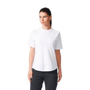 adidas Women's ZNE Training Track T-Shirt - White