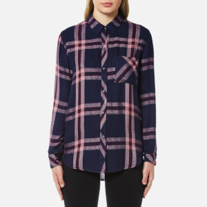 Rails Women's Hunter Check Shirt - Admiral/Cranberry Melange