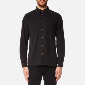 Folk Men's Baby Cord Shirt - Charcoal