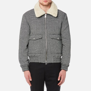 AMI Men's Patch Pocket Blouson Jacket - Black/White