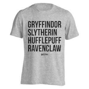Harry Potter House Names Männer T-Shirt - Grau