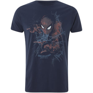 Marvel Spider-Man Web Shooting Männer T-Shirt - Navy