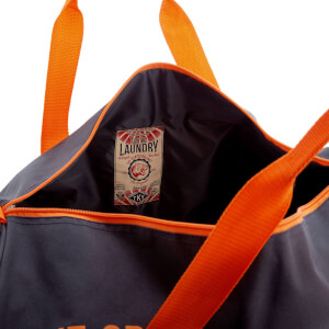 Tokyo Laundry Men's Gym Bag - Charcoal/Sunset Orange: Image 4