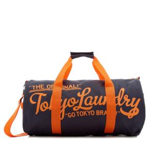 Tokyo Laundry Men's Gym Bag - Charcoal/Sunset Orange