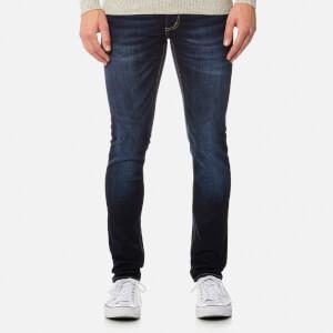 Superdry Men's Skinny Jeans - Dark Blue Used