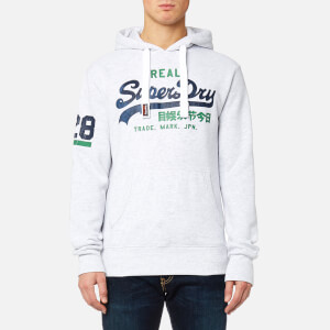 Superdry Men's Vintage Logo Duo Hoody - Ice Marl