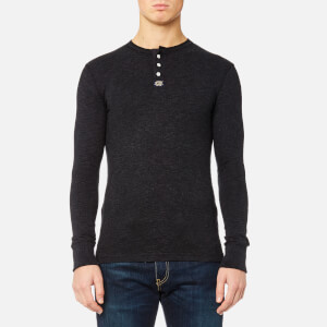 Superdry Men's Heritage Long Sleeve Grandad Top - Charcoal Grit