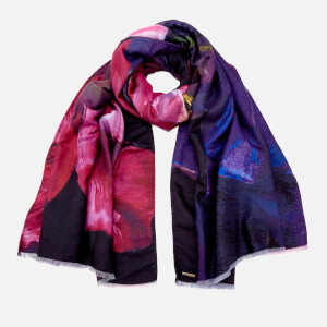 Ted Baker Women's Iziah Impressionist Bloom Long Scarf - Black