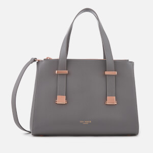 Ted Baker Women's Ameliee Adjustable Handle Small Grain Tote Bag - Mid Grey