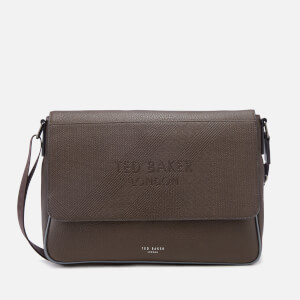 Ted Baker Men's Airlift Embossed Messenger Bag - Chocolate