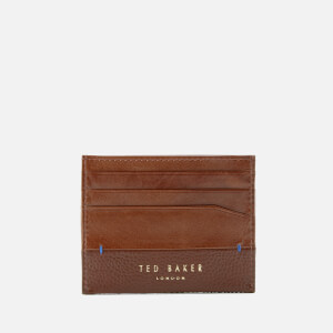 Ted Baker Men's Slippry Mixed Grain Card Holder - Chocolate