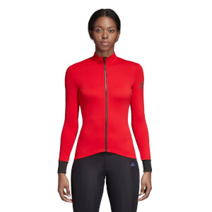 adidas Women's Climaheat Long Sleeve Jersey - Red