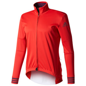 adidas Men's Adistar Long Sleeve Winter Jersey - Red