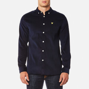 Lyle & Scott Men's Mini Cord Shirt - Navy