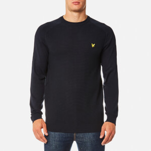 Lyle & Scott Men's Links Panel Jumper - Navy