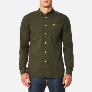 Lyle & Scott Men's Garment Dye Shirt - Olive