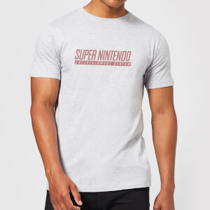 T-Shirt Nintendo SNES Light Grey - Uomo