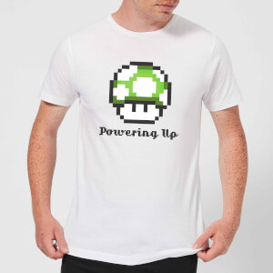 T-Shirt Homme Super Mario Powering Up Nintendo - Blanc