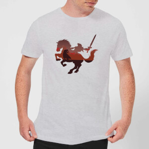 T-Shirt Homme Silhouette Cheval Zelda Nintendo - Gris Clair