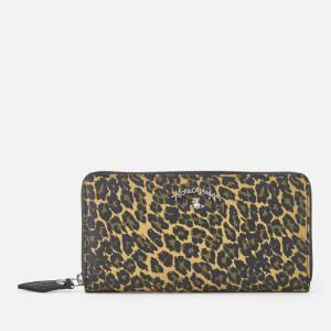 Vivienne Westwood Anglomania Women's Leopard Zip Around Wallet - Green