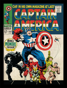 Affiche Encadrée Captain America Marvel - 30 x 40 cm