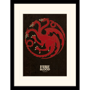 Affiche Encadrée Targaryen Game of Thrones - 30 x 40 cm