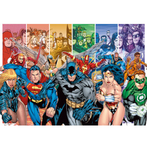 DC Comics Justice League America Generations 85 x 120cm Canvas Print