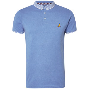 Brave Soul Men's Glover Polo Shirt - Sky Blue Marl