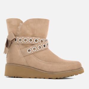 UGG Women's Alisia Short Suede Sheepskin Boots - Fawn