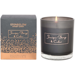 Stoneglow Juniper Berry and Cedar Natural Wax Boxed Tumbler Candle