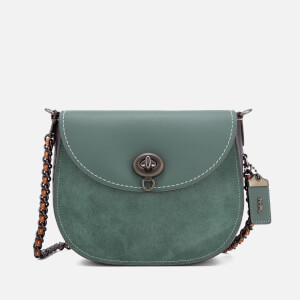 Coach 1941 Women's Turnlock Saddle Bag - Dark Turquoise