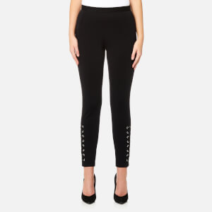 MICHAEL MICHAEL KORS Women's Ankle Laced Skinny Pants - Black