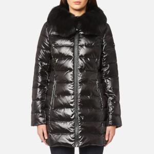 MICHAEL MICHAEL KORS Women's Real Fur Medium Length Puffa Coat - Black