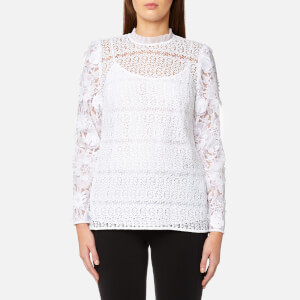 MICHAEL MICHAEL KORS Women's Lace Mix Blouse - White