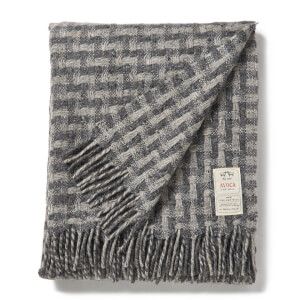 Avoca Lollipop Throw - Grey - 142 x 183cm