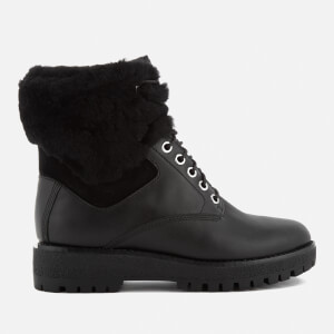 MICHAEL MICHAEL KORS Women's Teddy Leather Lace Up Boots - Black