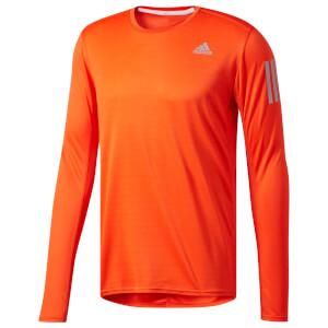 adidas Men's Response Long Sleeved Running Top - Orange