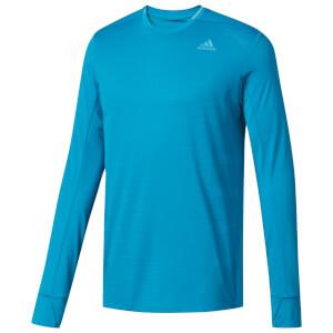 adidas Men's Supernova Long Sleeved Running Top - Blue