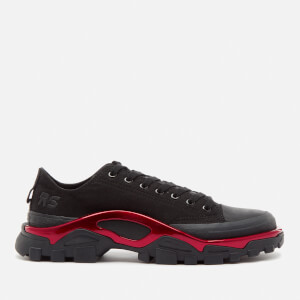 adidas by Raf Simons Men's New Runner Sneakers - Core Black/Core Black/Scarlet