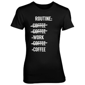 Routine Check List Women's Black T-Shirt