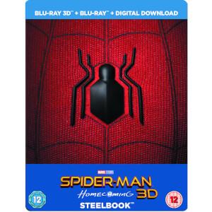 Spider-Man: Homecoming (3D + 2D) - Steelbook d'édition limitée + Aimant en Résine + Comic