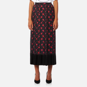 McQ Alexander McQueen Women's Pleated Skirt - Amp floral