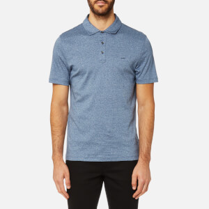 Michael Kors Men's Liquid Jersey Short Sleeve Polo Shirt - Midnight Jaspe