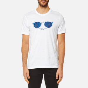 Michael Kors Men's Houndstooth Aviator Graphic T-Shirt - White