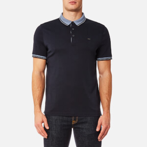 Michael Kors Men's Greenwich Logo Jacquard Short Sleeve Polo Shirt - Midnight