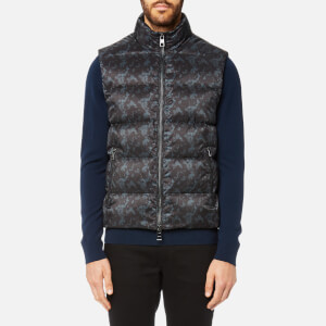 Michael Kors Men's Camo Printed Lightweight Down Vest - Charcoal